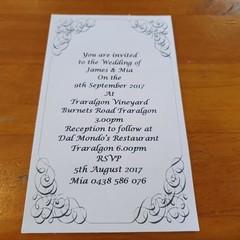 VINTAGE SCROLL WEDDING  INVITATION SAMPLES