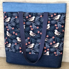 Large Tote Bag - Shoulder Bag - Australian Native Finch