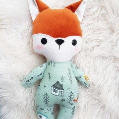 Baby fox doll, handmade softie