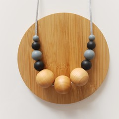 Black and Grey Ladies Necklace - stormy