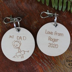 Key Ring for Father's Day Personlalised