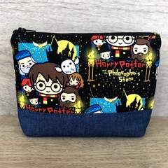 Cosmetics Pouch, Travel Bag, Zippered Clutch - Harry Potter