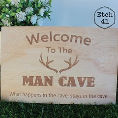 Welcome To The Man Cave -  Sign For Father's Day
