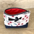Cosmetics Pouch, Travel Bag, Zippered Pouch - Willy Wag Tail