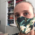 Cotton Face Mask ~ Green Camo ~ 3 layers