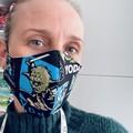 Cotton Face Mask ~ Star Wars Yoda ~ 3 layers