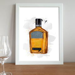 'Gentleman Jack' Watercolour Digital Painting, Instant Download Printable