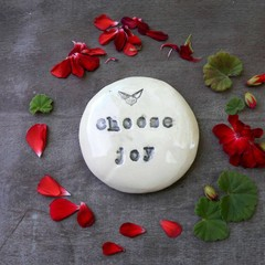 Choose Joy ceramic magnet
