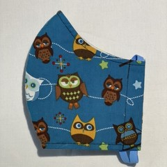 Face Mask - Medium - Owls