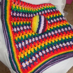 Rainbow Baby Blanket and Ball/Soft Toy