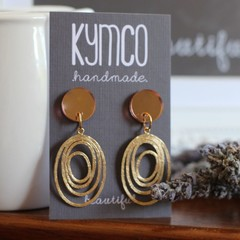 Dots and Dangles - rose gold dot with various dangles