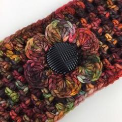 Ladies Crochet Headband | Hand Dyed Merino | Hand Crocheted | Free Postage