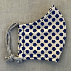 Fabric Face Mask - Royal Blue Spot (free postage)