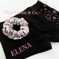 Personalised Shorts with STARS, Girls Shorts with NAME, Black