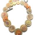 Button necklace - Apricot Delight