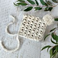 Chunky Oatmeal Newborn Crochet Baby Pixie Bonnet Beanie Hat Photo Prop