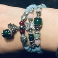 Turquoise natural stone beaded bracelet or necklace