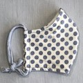 Fabric Face Mask - Dusty Blue Spot (free postage)