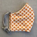 Fabric Face Mask - Orange Spot (free postage)