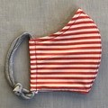 Fabric Face Mask - Red Stripe (free postage)
