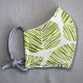 Fabric Face Mask - Green Leaves (free postage)
