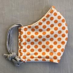 Fabric Face Mask - Orange Spot (free postage)