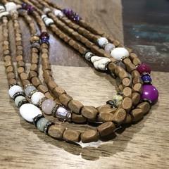 Wood & Stone Necklace