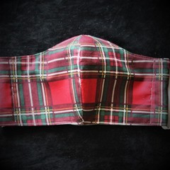 Tartan Face Mask size: Man Ready Made