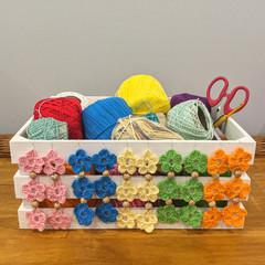 Crochet Boho Flower Earrings