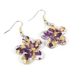Petals and gold foil - purple