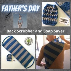 Back Scrubber and Soap Saver