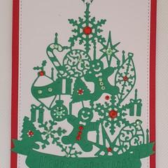 Christmas Card - 'Christmas Tree Ornate'