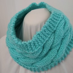 Hand Knitted Cowl Scarf