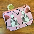 Coin purse - Pink Kangaroo