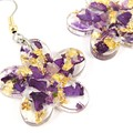 Petals and gold foil - purple