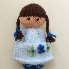 Tilly-  Hand Knitted Doll