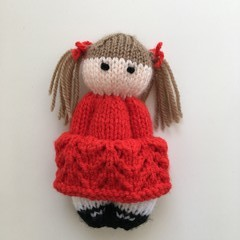 Ruby - Hand Knitted Doll