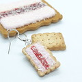 Miniature Aussie Iced VOVO dangle earrings, Aussie food earrings, polymer clay