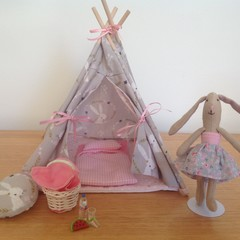 Toy Tent Play Set with Soft Toy Bunny