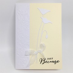 Blank Card - Just Because, Pale Yellow, Poppy