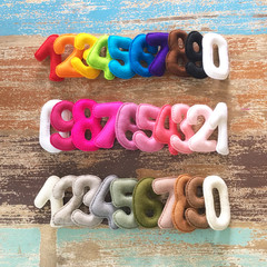 Felt numbers, counting, colour recognition, homeschool