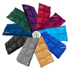 Wheat Bag 1.4kg Large Sectioned Heat Bag Heat Pack Winter Plain Colours Purple