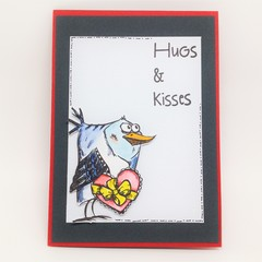 Hugs and Kisses Card  - Love, Valentine, Father's Day, Any occasion