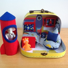 Spaced Theme Play Set in a Travel Suitcase
