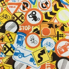 MADE TO ORDER 3 layer Mask Road Signs Face Cover Reusable Cloth Mask