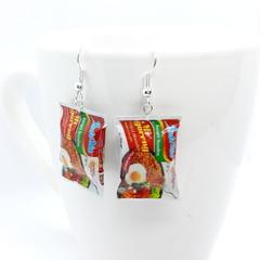 Miniature instant noodle Earrings, Indomie dangle earrings