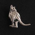 Kangaroo pin - sterling silver 19mm