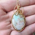 Boulder Opal 14k gold fill wire wrapped pendant