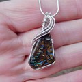 Koroit Boulder Opal Sterling silver wire wrapped