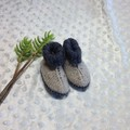 Baby boots handknitted in pure Australian wool
